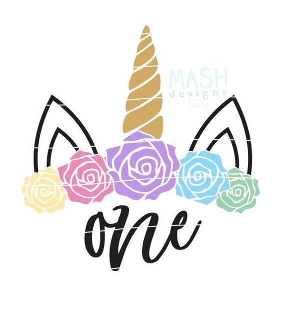 First Birthday Unicorn svg, 1st birthday, unicorn birthday svg, first  birthday svg, flower unicorn svg, one, rainbow birthday svg, unicorn