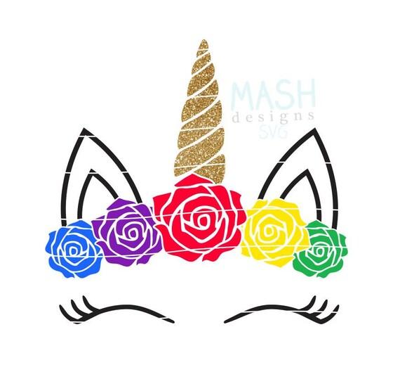 arco iris unicornio floral svg beb233 arco iris arco iris