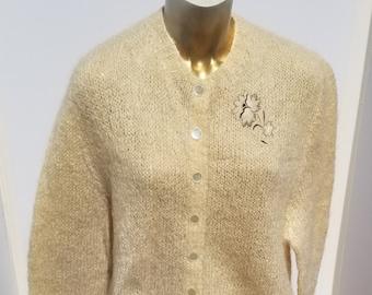 Vintage Flower Applique Cardigan