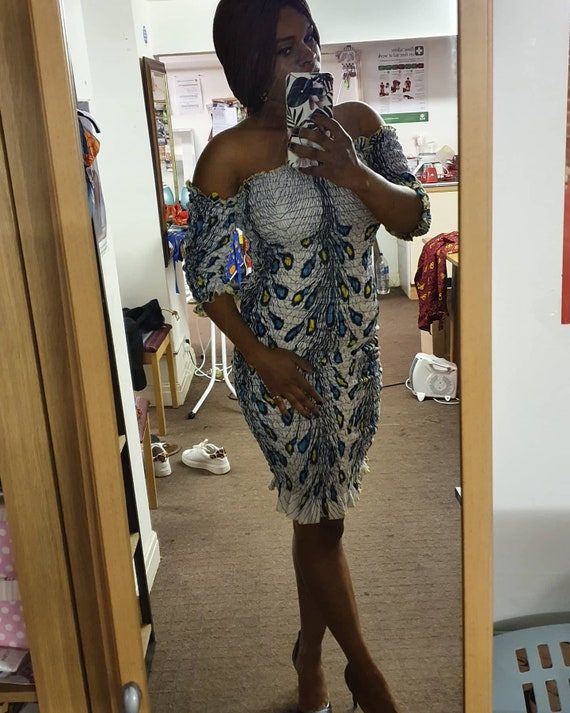 perfect for any occasion ankara Smokey stretch dress Sales African print