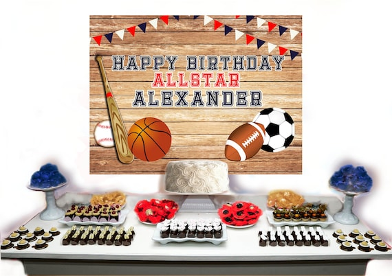 Cool All Star Birthday Backdrop All Star Sports Birthday Cake Or Etsy Funny Birthday Cards Online Bapapcheapnameinfo