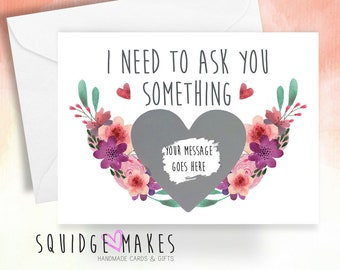 Wedding bridesmaid scratchcard SET X5. Will you be my bridesmaid. Maid of honour. Personalised scratch off. Surprise message. Flower Girl