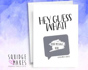 scratch off surprise card pregnancy reveal surprise gift custom birthday customizable baby announcement secret reveal gender grandparents