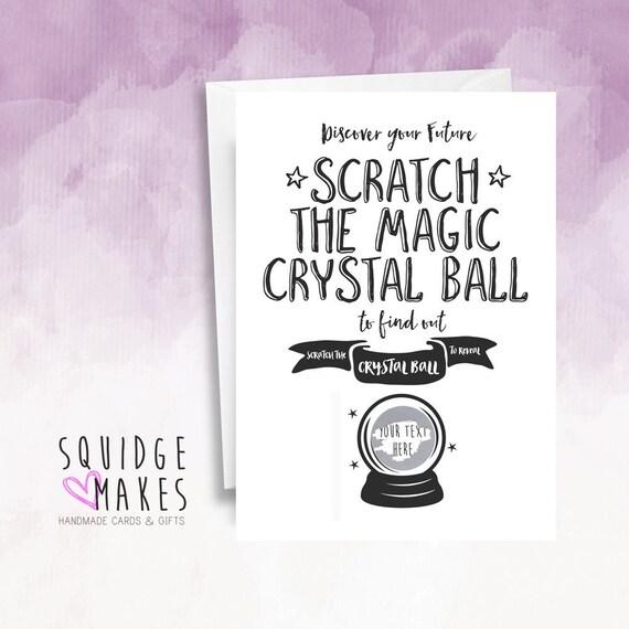 Scratch Off Surprise Carte Fortune Teller Boule De Cristal Etsy