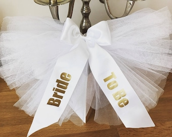 Booty veil / Bikini Veil,Bustle  Bride to Be, Hen Party essentials *Custom printing Available*