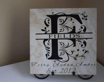 Lettera di piastrelle di ceramica etsy