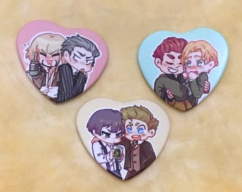 91 Days Pairing Heart Badges