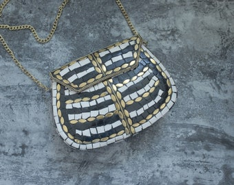 Mosaic Handmade Handbag | Boho Bag | Ethnic Bag | Tribal Bag