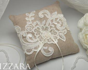 wedding rustic ring pillow wedding gift rustic ring bearer wedding lace bearer rustic pillow rustic ring pillow wedding ring pillow lace
