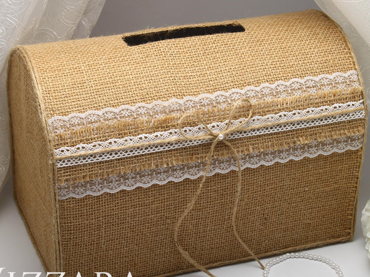 Wedding Gift Post Box: Wooden Card Box For Envelopes Wedding Card Box Wedding Box