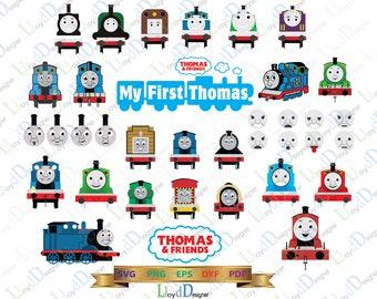 Thomas the train SVG Digital Thomas and friends Party Decor Thomas the train Birthday clipart train shirt dxf svg eps png file cameo cricut