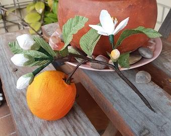 Surprise ball - paper surprise ball - art surprise ball - wedding favor - party favor - mandarin branch surprise ball