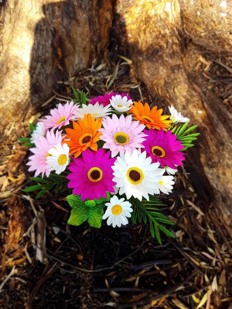 5-10 Paper Gerberas-crepe paper flower-paper flower gerberas image 0