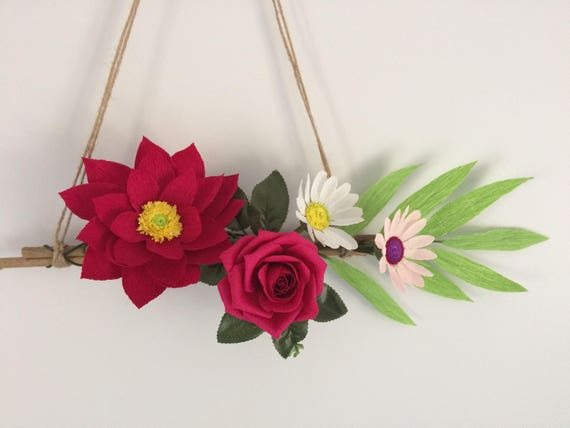 Doorhanging wall hanging paper flower wall hanging crepe etsy image 0 mightylinksfo