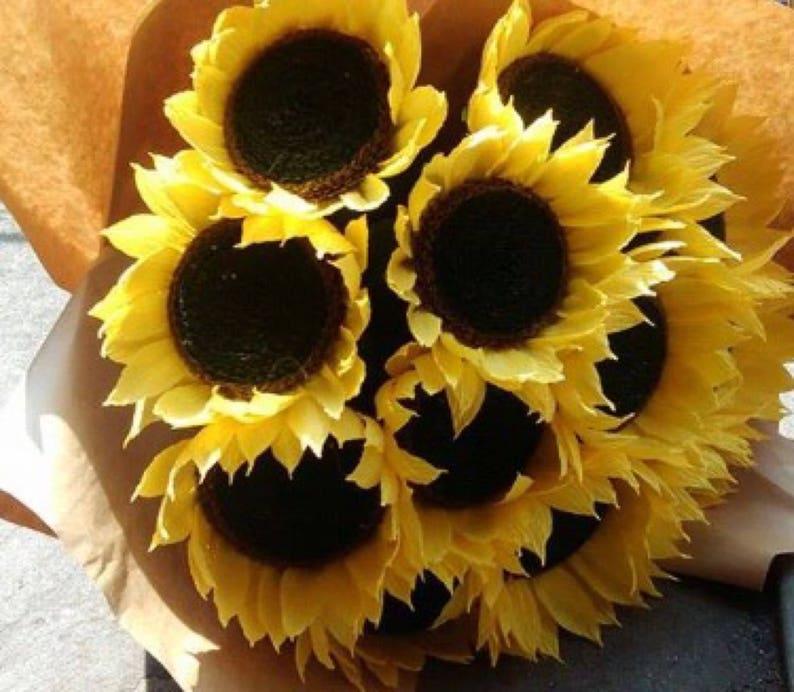 handmade flowers-handmade gift paper flowers-paper decoration wedding bouquet 5 Paper sunflowers