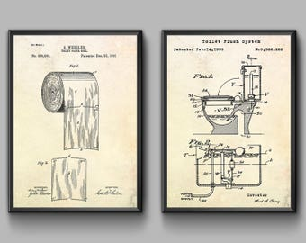 Toilet blueprint etsy toilet paper poster toilet patent print toilet wall art toilet blueprint toilet malvernweather Image collections