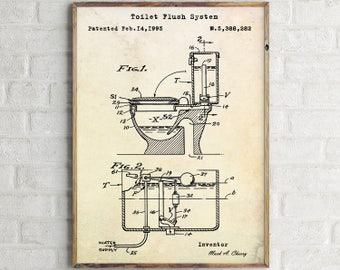 Toilet paper poster toilet patent print toilet wall art toilet flush system patent print toilet wall art toilet blueprint toilet prints toilet poster bathroom wall malvernweather Image collections