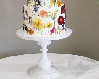 10'' 12'' Tall Wedding Cake Stand White Cake Pedestal Wooden Cake Holder Baby Shower Centerpiece Wood Cupcake Display Birthday Decorations