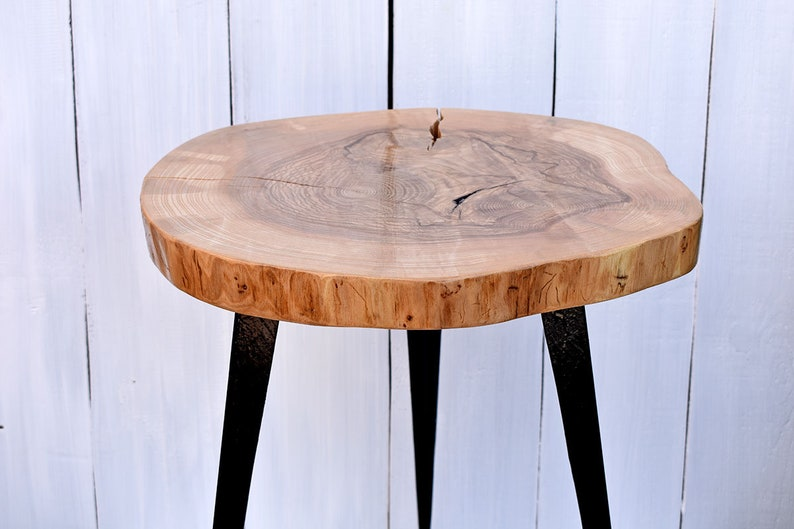 Tremendous 22 Wood Slice Coffee Table With Metal Legs Wooden End Table Live Edge Sidetable Rustic Wood Slab Table Loft Decorations Modern Furniture Beutiful Home Inspiration Ommitmahrainfo