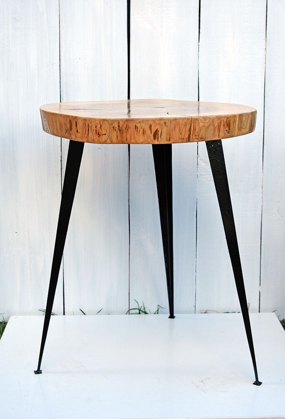 Wood Slice Coffee Table.22 Wood Slice Coffee Table With Metal Legs Wooden End Table Live Edge Sidetable Rustic Wood Slab Table Loft Decorations Modern Furniture
