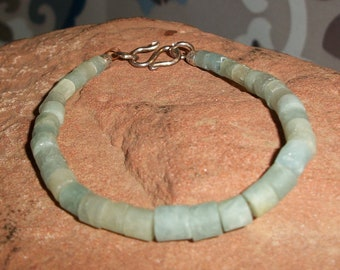 Raw Natural Aquamarine Hill Tribe Bracelet