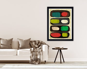 Retro Abstract Art, Mid Century Print, Mid Century Wall Art, Abstract Wall  Art, Retro Wall Art, Retro Painting, Retro Wall Decor