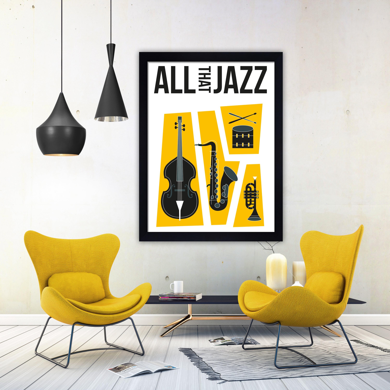 Jazz print jazz music print jazz poster retro music print | Etsy