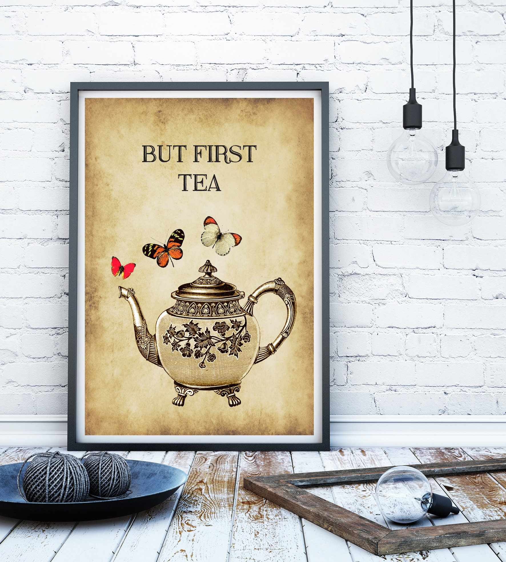 Kitchen print Kitchen sign tea pot vintage print victorian   Etsy