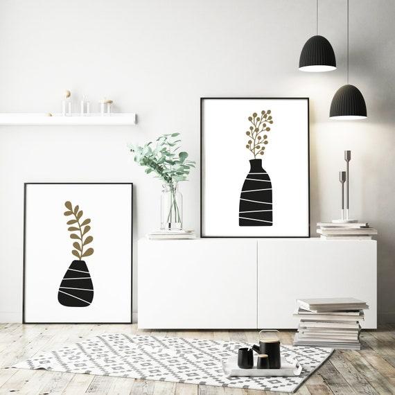 botanical art Nordic wall art scandinavian wall art scandi plant, minimalist wall art nordic print scandinavian print scandi print