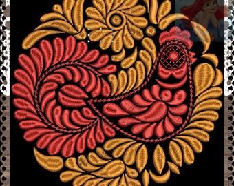 set bird - Embroidery Machine Patterns Design Russia Folklore