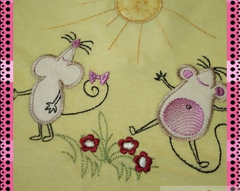 Embroidery Digital embroidery Designs Mouse Application For the girl Gift