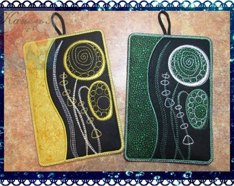 Pot Holders mud rug Trivets Cotton Trivets Hot Pads Trivets digital embroidery abstraction In my kitchen machine embroidery Patterns Design