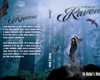 Premade book covers, printed book covers, ebook covers, Raven