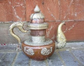 Ornate Copper Brass Teapot Decorative Vintage Tibetan Butter-Tea Pot ( 1 LARGE)