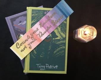 Rainbow Quote Handpainted Bookmark