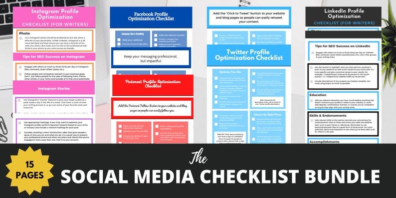 The Social Media Checklist Bundle image 0