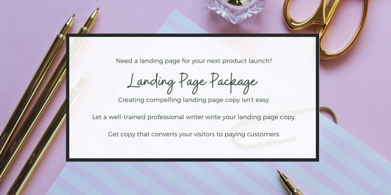 Landing Page Copy Package  Landing Page Content  Get Two image 0