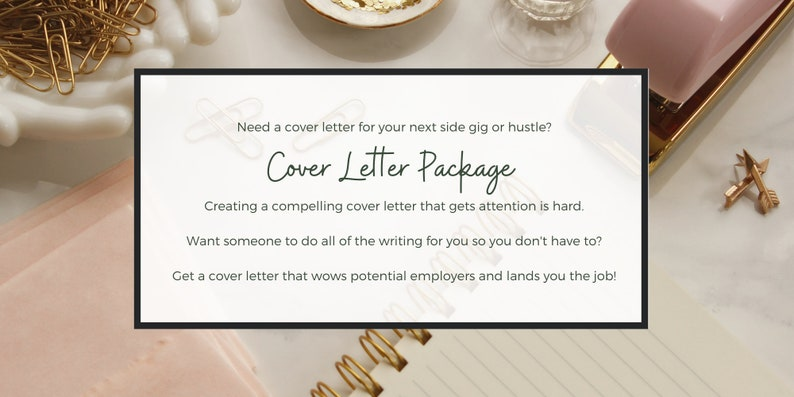Cover Letter Package  Chic Cover Letter  Girly Cover Letter image 0