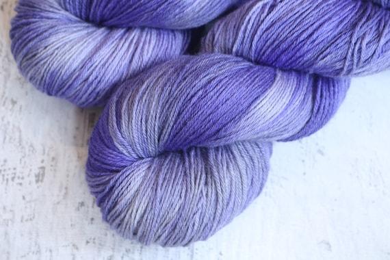 Blue 7030 Superwash MerinoNylon Fingering sock yarn