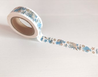 Summer washi tape – starfish, sea horse washi, planner accessories, crafts, scrapbooking, planning, card making