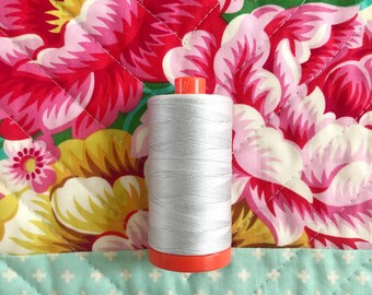 Aurifil thread, dove, cotton thread, 50 weight, grey, neutral