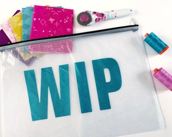 A3 Project pouch, craft bag, zipper pouch, craft storage, make, bag, glitter, portable, travel bag, craft case, sewing,  quilting