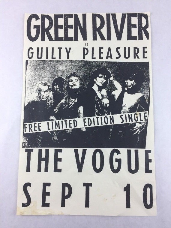 Vintage Posters Grunge Punk Rock Various Bands 1980s /& 1990s Various Locations