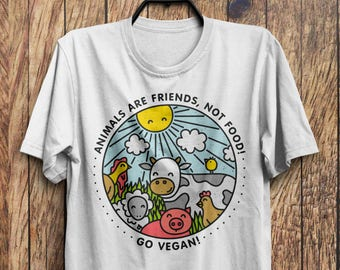 b0af74211f297f Animals are Friends Shirt