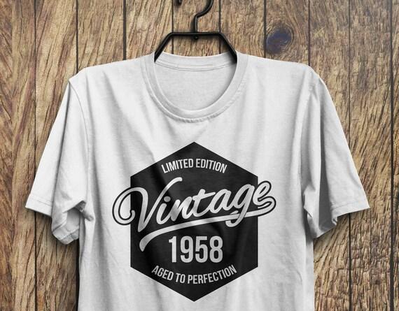 60th Birthday T Shirt 1958 Gift Vintage