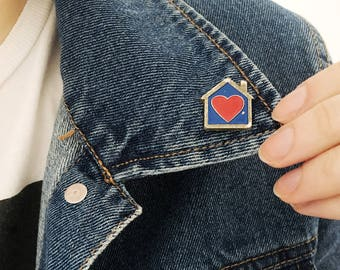 Home Is Where The Heart Is Pin// Vintage House Pin//