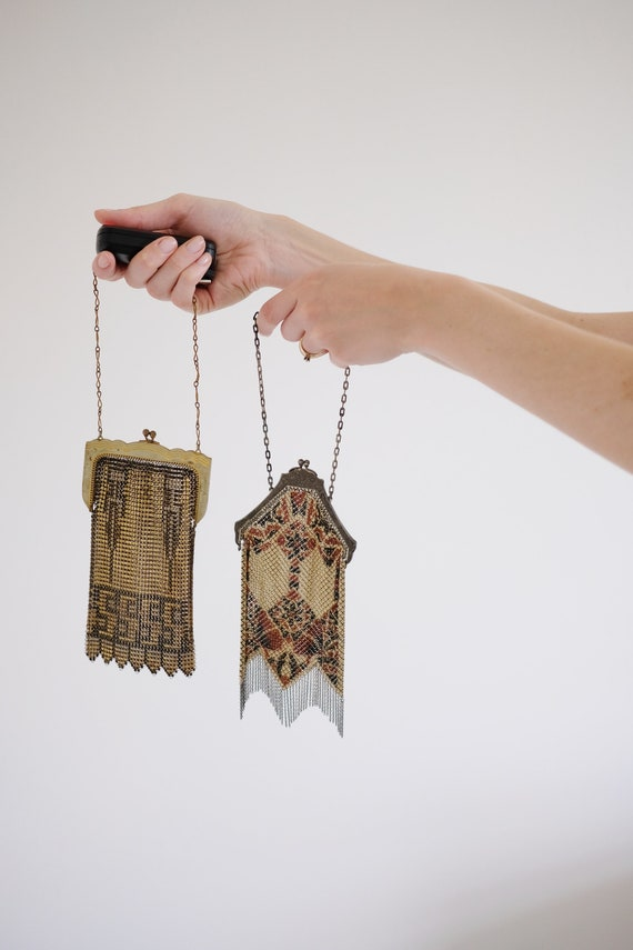 Antique 1920's Mesh Top Handle Purses// Whiting &