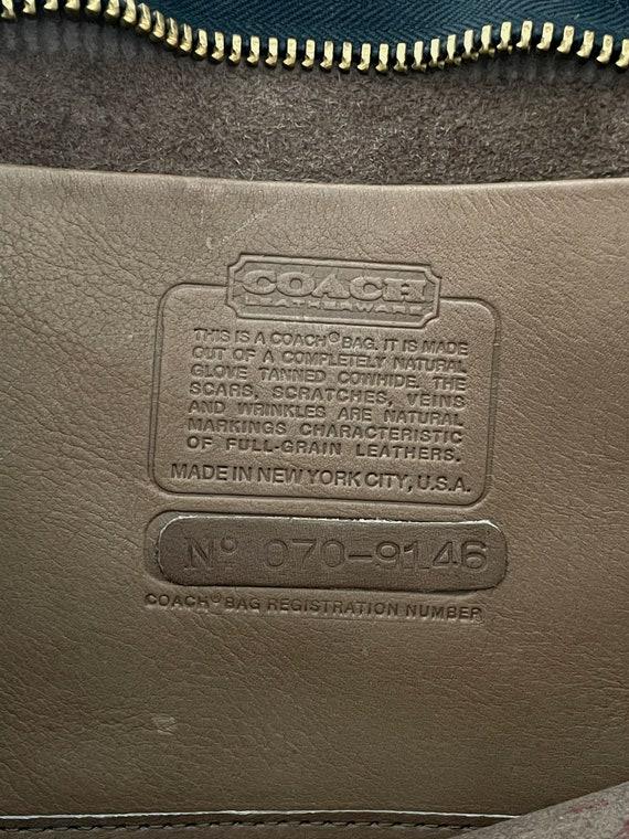 1970s Coach Tan Leather Brief Case Purse// Vintag… - image 9