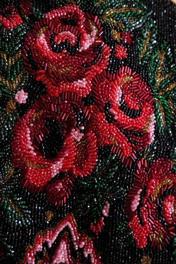 1980s does the 1950s Beaded Rose Purse// Vintage … - image 4