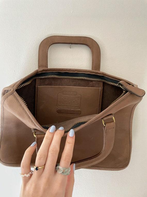 1970s Coach Tan Leather Brief Case Purse// Vintag… - image 5